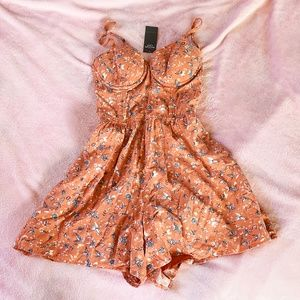 Abercrombie & Fitch NY Orange Floral Romper NEW